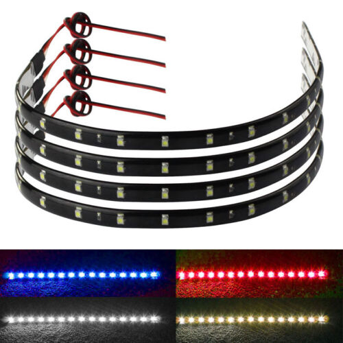 4 x30cm 15 LED Car Trucks Grill Flexible Waterproof Light Strips 4 Colors Unique