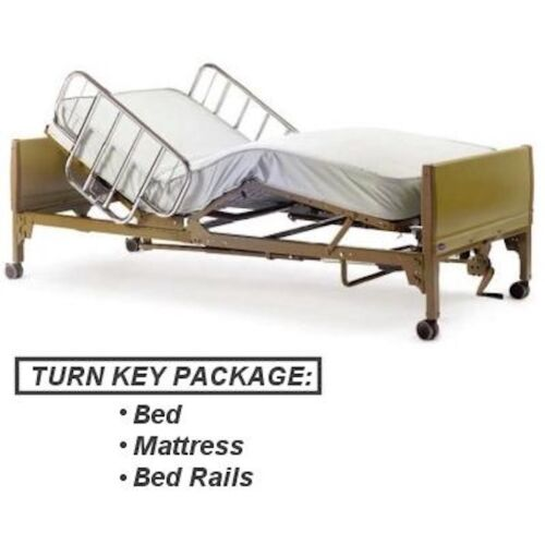 Full Electric Hospital Bed Package  Includes (Free Mattress and Rails!)