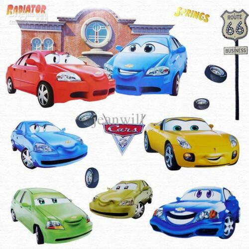 Disney pixar cars childrens wall stickers removeable kids for Disney pixar cars wall mural