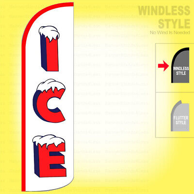 Ice - Windless Swooper Flag 3x11.5 Ft Feather Banner Sign Wz