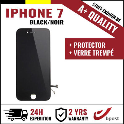 A+ LCD TOUCH SCREEN SCHERM ÉCRAN BLACK NOIR & VERRE TREMPÉ + TOOLS FOR IPHONE 7