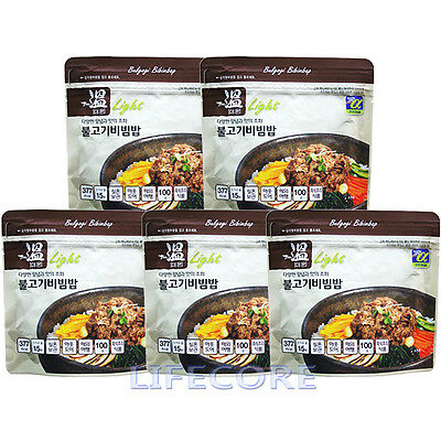 Military Outdoor Camping Emergency Food Combat C Ration MRE Bulgogi Rice 5 packs