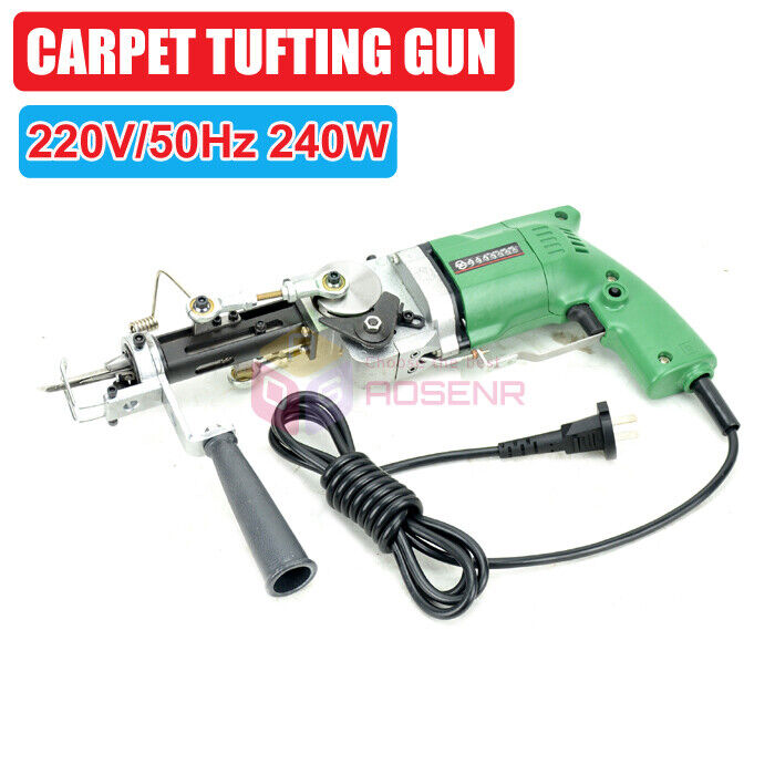 220V Electric Rug Tufting Gun Carpet Weaving Machine Rug Making Braiding Tools