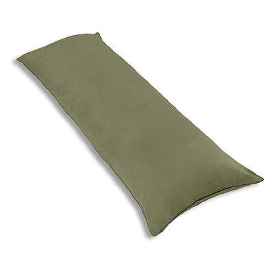 Sage Green Body Pillow Case Zippered Soft Micro Suede New 20