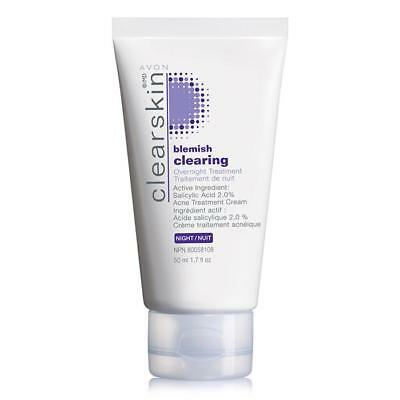 AVON CLEARSKIN BLEMISH CLEARING OVERNIGHT TREATMENT ACNE TREATMENT CREAM NIB