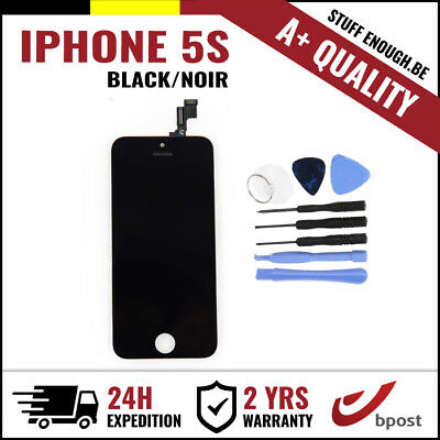 A+ LCD TOUCH SCREEN VITRE DISPLAY/SCHERM/ÉCRAN BLACK NOIR & TOOLS FOR IPHONE 5S
