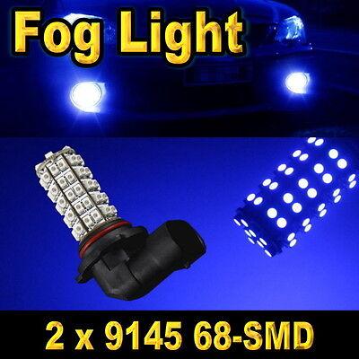 2x 9145 68-SMD Ultra Blue LED Driving Fog Light Bulbs 9140 9045 H10