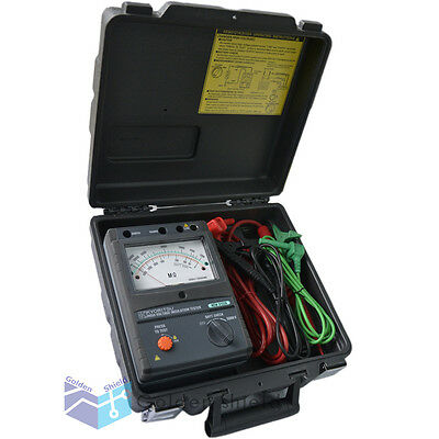 Kyoritsu 3123a High Voltage Insulation Tester 10000v 10kv With Carrying Case.