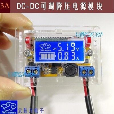 3a Dc Dc Adjustable Step-down Regulator Digital Power Supply Module Lcd Screen