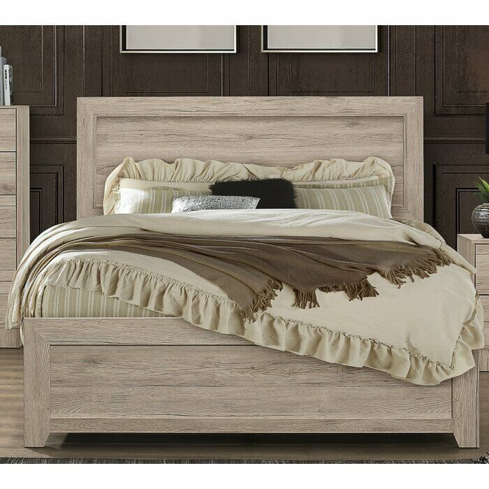 Bedroom Furniture Set Distressed Oak King, Queen or Full Size Bed Plus a500
