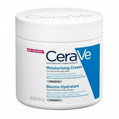 CERAVE MOISTURISING CREAM DRY TO VERY DRY SKIN 454G Fast&Free Delivery AUTHENTIC