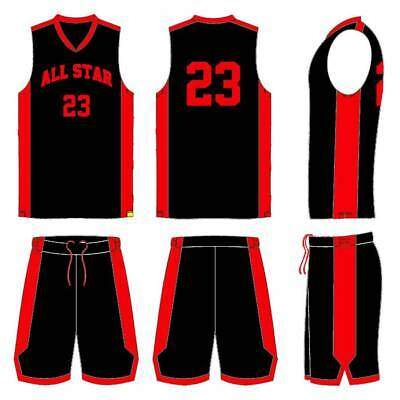BASKETBALL UNIFORMS PACKAGE IN HOME AND AWAY COLORS - 13 TO 14 YEARS OLD PLAYERS