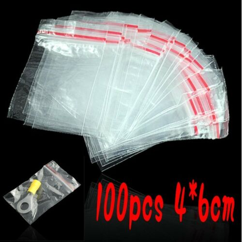 All sizes All quantities Reclosable zip Bags 100, 4x6cm