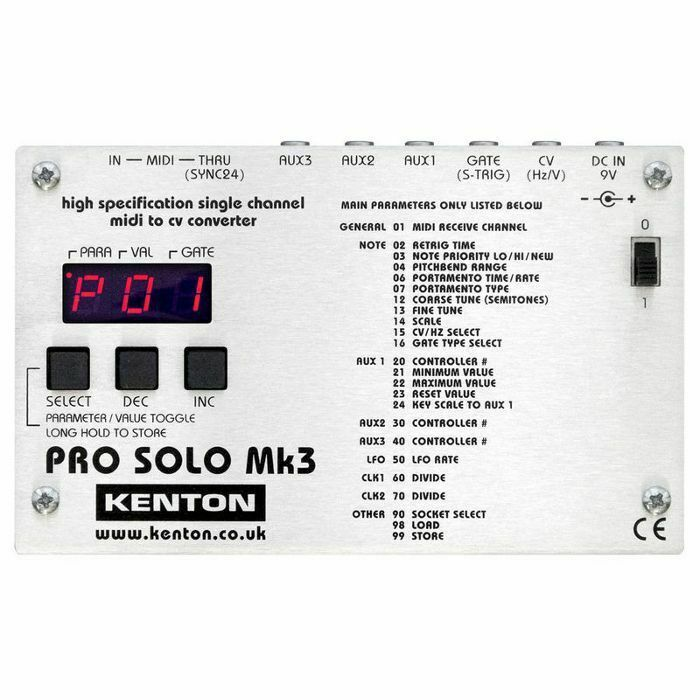 Kenton Pro Solo Mk3 MIDI To CV Converter *SUPPLIED WITH UK 3-PIN POWER ADAPTER*