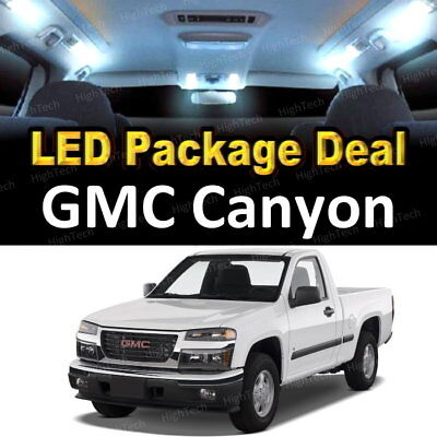 (12x White LED Lights Interior Package Deal For 2004 - 2010 2011 2012 GMC Canyon)