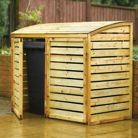 Double Natural Timber Bin Store - Partially unwrapped - Brand New was £135.00 !!