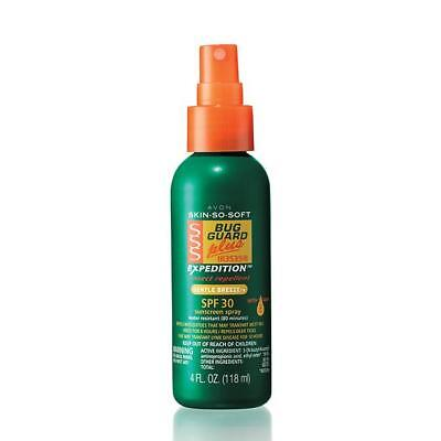 AVON SKIN-SO-SOFT BUG GUARD PLUS EXPEDITION INSECT REPELLENT SPF 30 SPRAY 4 FL