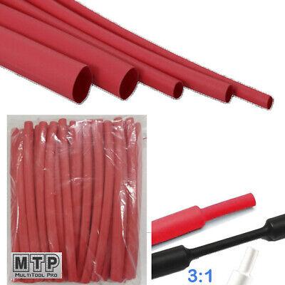 "BLACK 3//16/"" 5mm Dual-Wall Adhesive 3:1 Ratio Heat Shrink Tubing M23053//4 100 Ft"