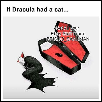 - Fridge Fun Refrigerator Magnet IF DRACULA HAD A CAT Funny Meme
