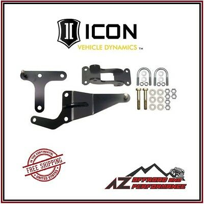 ICON Dual Steering Stabilizer Bracket Kit 1999-2004 Ford F250 F350 Super Duty