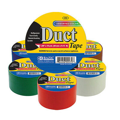 Bazic Assorted Solid color 1.89 inch x 10 yrd (48mm x 9.15m) duct tape - Color Duct Tape