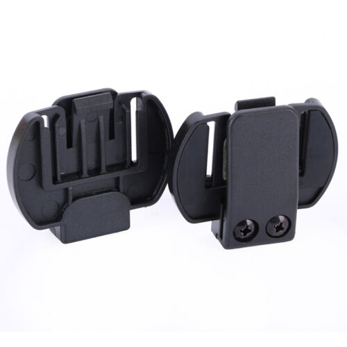 2Pcs Clip/Clamp Mount for Motorcycle Helmet Intercom Bluetooth Interphone V6/V4