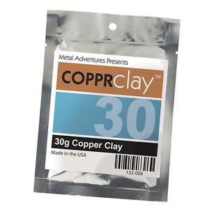 COPPRclay 30g COPPER METAL CLAY JEWELRY ART SCULPTING CREATING METAL PIECES