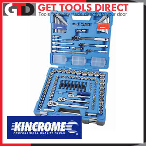 New Kincrome Socket Set 194 Piece 1/4, 3/8 & 1/2 Square Drive Metric & Imperial