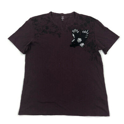 INC Mens T Shirt Graphic Sequin Eagle Wine Maroon Variety Sizes - Sequin Mens Shirt