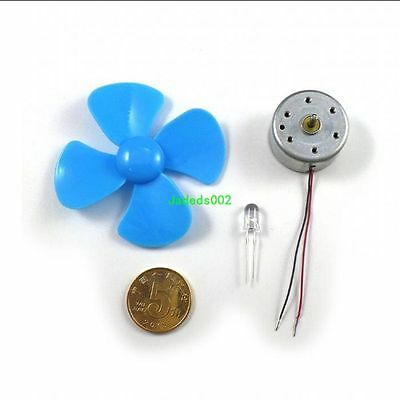 1pcs Micro Wind Turbine Diy Dc Wind Power Generator For Physical Experiment