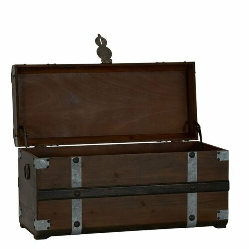 Vintage Trunk Wooden Storage Box Free Shipping USA