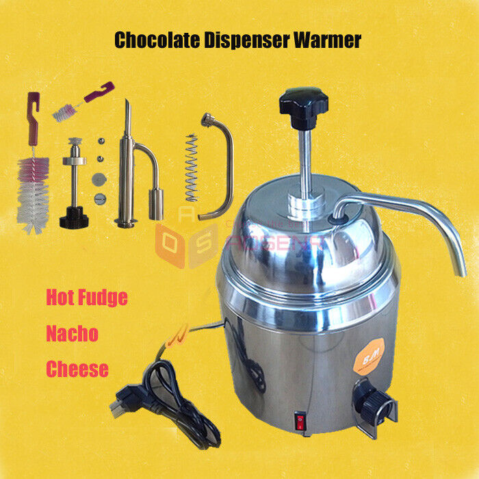 Hot Nacho Fudge Chocolate Cheese Heating Machine Dispenser Warmer 110V/220V