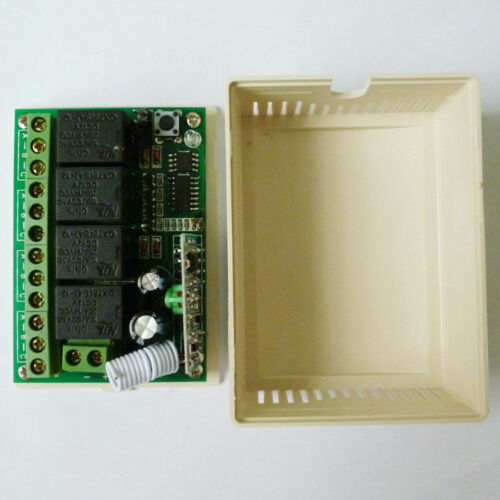 DC12V 433M 4 channels RF wireless relay  EV1527 PT2272 decoder Receiver
