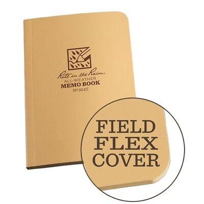 Rite In The Rain 954t All-weather Universal Field-flex Memo Book Tan 3.5 X 5