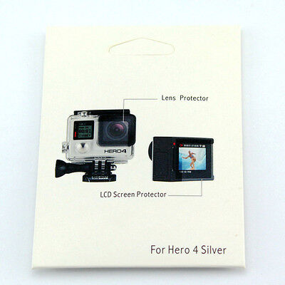 Gopro accessories protective film(Screen+Lens Protector) for Gopro Hero 4 Silver