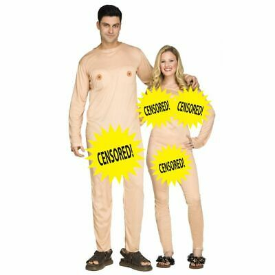 Fun Couples Costumes (New Nudist Couple Humorous 2 Costumes in Bag by Fun World 133484)
