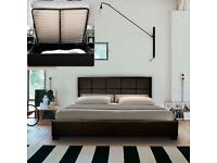 Leather Storage Bed and Mattress