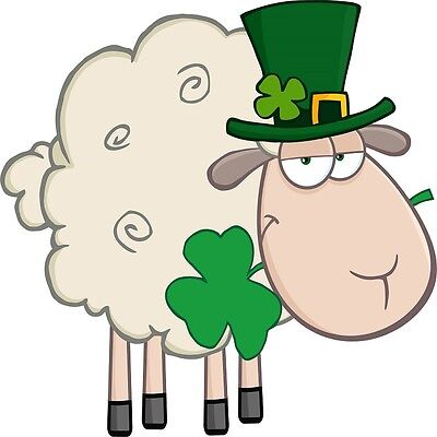 30 Custom Irish Sheep Personalized Address Labels