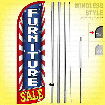 Furniture Sale - Windless Swooper Flag Kit 15 Feather Banner Sign Starburs Rq-h