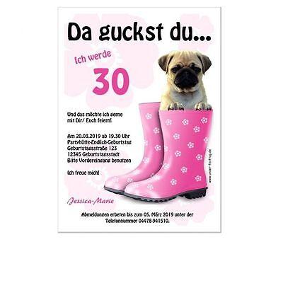 urtstag 30. 40. 50. 60. Originell lustig Text änderbar TOP (40 Geburtstag Einladungen)