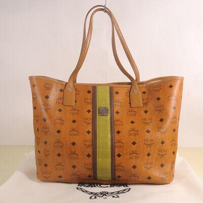 AUTHENTIC MCM Women Visetos Shopper Bag + Dust Bag