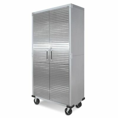 Ultra Heavy Duty Garage Metal Storage File Rolling Cabinet Stainless Steel Doors