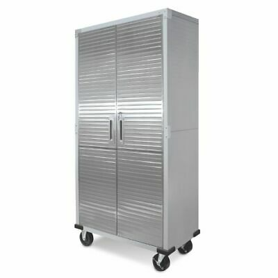Ultra Heavy Duty Garage Metal Storage File Rolling Cabinet Stainless Steel -