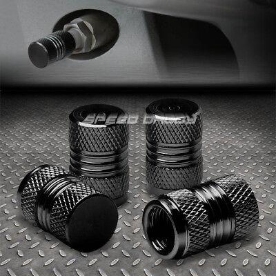 - 4 X ALUMINUM METAL TIRE/RIM VALVE/WHEEL AIR PORT DUST COVER STEMS CAP/CAPS BLACK
