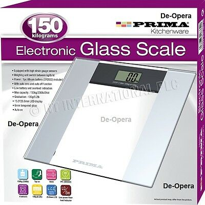 150KG DIGITAL ELECTRONIC LCD BATHROOM WEIGHING SCALE GLASS NEW WEIGHT SCALES NEW