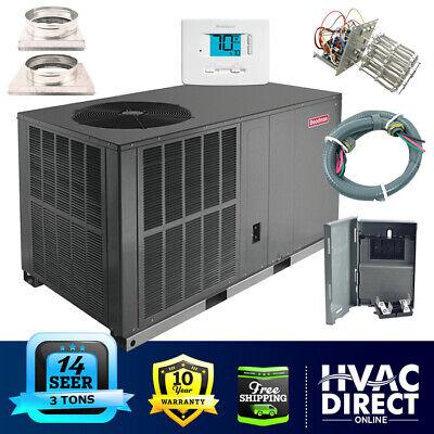 Goodman 3 Ton 14 SEER Heat Pump System   Complete Install Kit, Free Accessories Goodman Heat Pump Systems