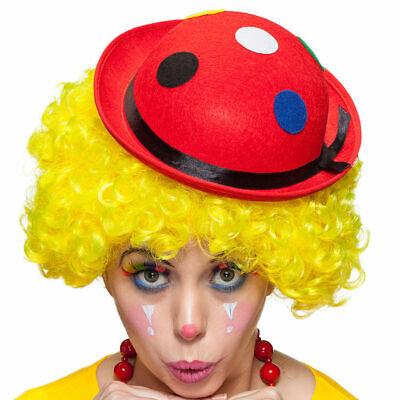 Clownshut Melone rot, mit Punkten, KW 59, Clownskostüm Hut