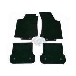 4 tapis sol moquette noir specifique vw golf 3 4