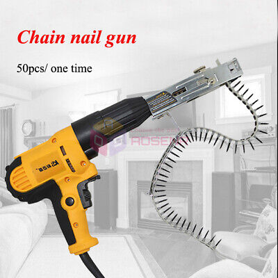 220v Automatic Screw Spike Chain Nail Gun Electric Drill Woodworking Tool