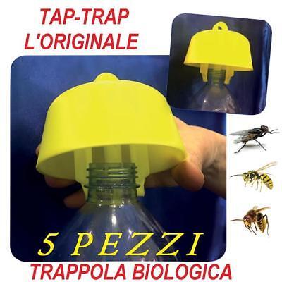 5 PZ TRAPPOLA BIO TAP TRAP TAPPO VESPE CALABRONI MOSCHE ORIGINALE MADE IN ITALY